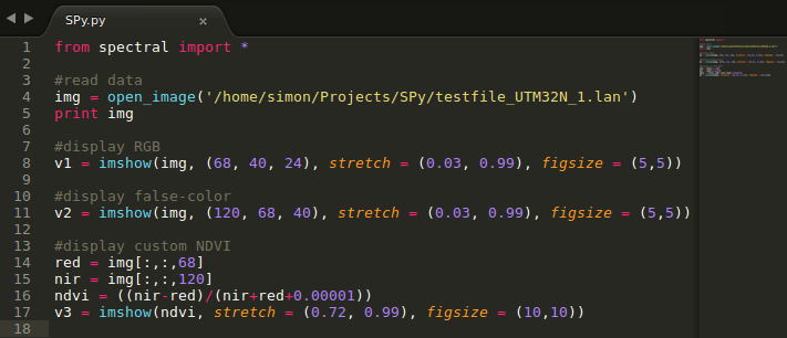 Introduction to Spectral Python | GIS-Blog com