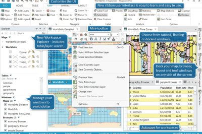 Some highlights of the improvements being offered with MapInfo Pro 64 bit