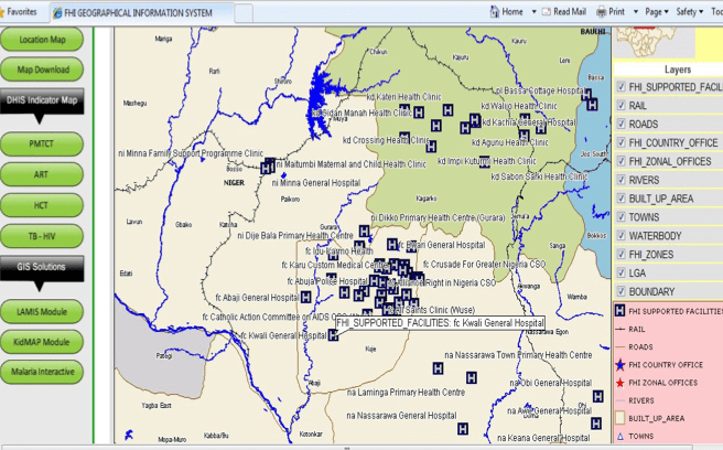 Figure 2: Zoomed - An Interactive location based dashboard where specific services are offered and facilities available.