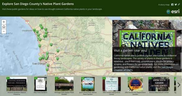 How GIS is Helping Gardening   GIS Lounge This ArcGIS based story map highlights public gardens featuring native  plants
