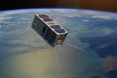 Artistic rendition of the UNSW-Ec0 cubesat. Image: UNSW Websites This website HomeEngineering The Australian Centre for Space Engineering Research (ACSER).