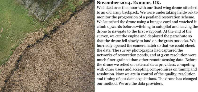 Field notes from researcher Karen Anderson on the efficacy of using drones to collect geographic data. From: Garrett & Anderson, 2018