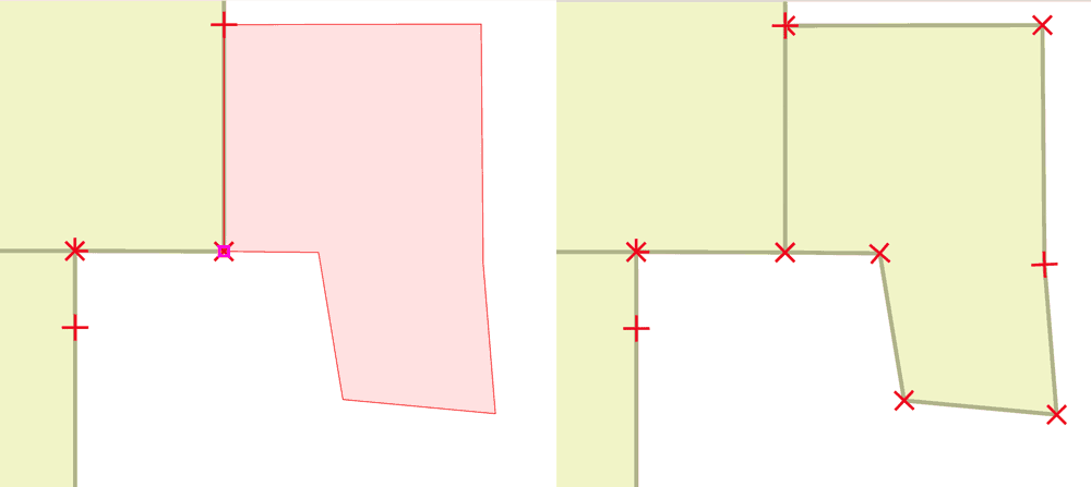 Setting a proper snap tolerance ensures that spatially close features are snapped together.