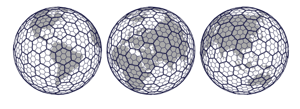 H3, developed by Uber, divides the Earth into hexagons. Image: Uber.