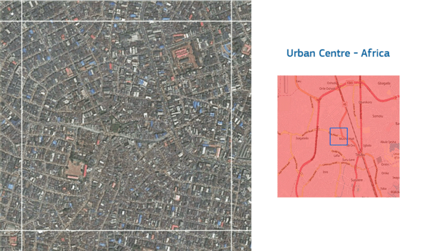 An Urban Centre is defined as: all cells with a local population density of at least 1,500 people/km2 or with a local built-up area share of at least 0.50, and clustered in a 4-connectivity object of at least 50,000 people or all cells resulting from 3x3 median filtering or by gap filling < 15 km2 (median filtering and gap filling applied to cluster of cells that met the previous logics).