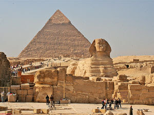The Giza Pyramid complex is home to the world famous Giza Pyramids, the Sphinx and Chephren's valley temple.
