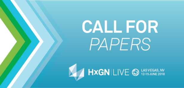 Call for Geospatial Papers: HxGN LIVE 2018