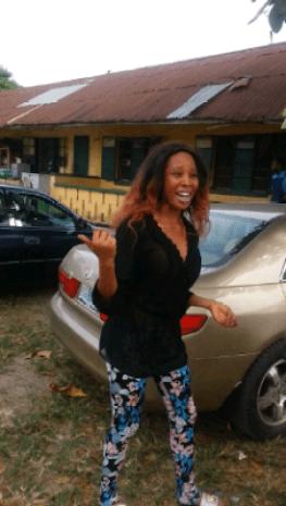 Latest on Apostle Suleman's S3x Scandal!!! Stephanie Otobo All Smiles As She Is Released From Kirikiri Prison [Photos]