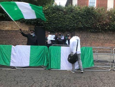 Nigerians Granted Permission To Protest At Abuja House, U.K Police Prepares [Photos]