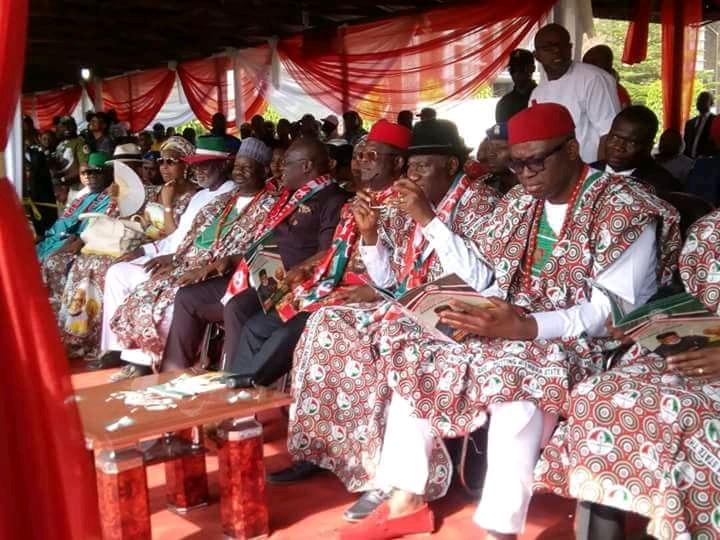 Anambra Election: GEJ, Wike, Fayose, Okowa, Others, All Present As PDP Kick-Off Mega Rally At Onitsha [Photos]