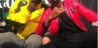 Funny Photos of Papa Ajasco, Charles Okocha and Pa James on Set
