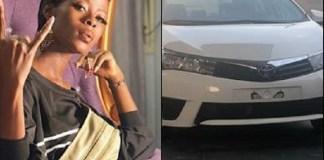 Obafemi Martins Gifts Ex-Bbnaija Khloe A Brand New Car