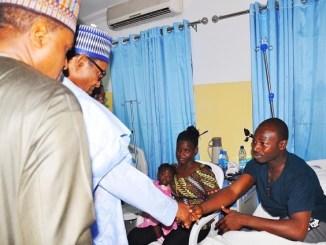 More Photos of President Buhari as He Visits Survivors of the Nigeria Air Force Crash [Photos]