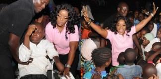 Nollywood Actress, Empress Njamah Donates 20 Wheel Chairs to Less Privilege to Celebrates Her Birthday