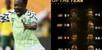 Musa Out as Iwobi, Salah & Aubamenyang Makes African Player of the Year Award Shortlist
