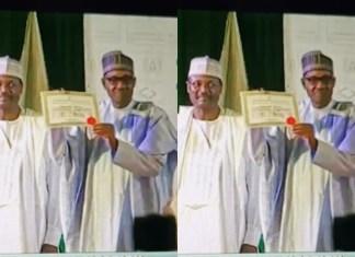 2019 Election: INEC Presents Certificate of Return to Buhari, Osinbajo