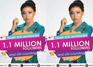2018 BBnaija Finalist, Nina Reaches 1 Million Followers on Instagram