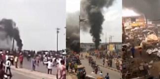 Okada Riders and Officials of Agodi Prison Clash in Ibadan (Video)