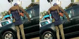 Man Spotted Hawking Crocodile in Port Harcourt