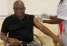Ex- Governor of Ekiti State Receives COVID-19 Vaccine