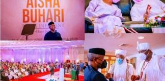 Aisha Buhari's Book Launch: Full List of Donations Made as Dangote and Tinubu Donates N50m