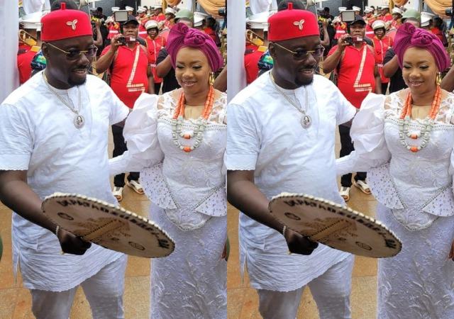 Obi Cubana's wife Gushes Over Her Man