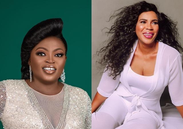 Funke Akindele vs Toyin Abraham: Faithia Williams pitches her tent with Funke Akindele
