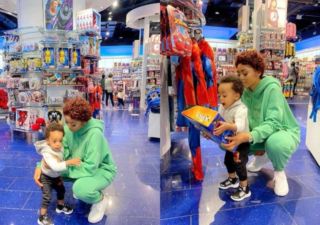 Regina Daniels Takes Her Son, Munir on an Expensive Shopping Abroad [Photos]
