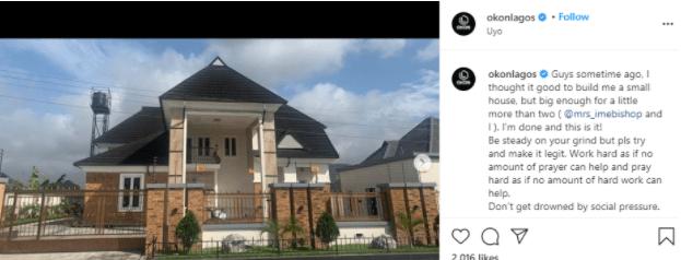 Actor Okon Lagos Shows Off His Newly Built House [Photos]