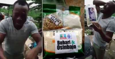 Nigerian man shed tears after receiving APC 'Next Level' garri (Video)