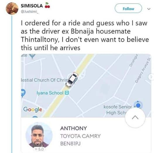 Tboss reacts as BBN's star Thin Tall Tony Becomes a Taxi Driver In Lagos 3