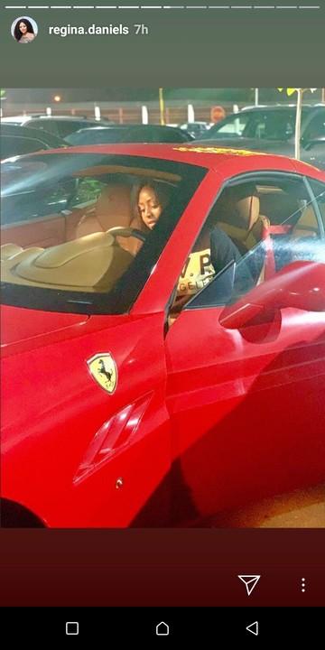 Regina Daniels now a proud owner of Ferrari