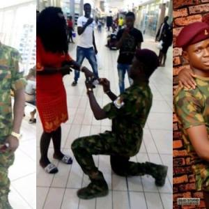 Nigerian soldier proposes to lady he met on Facebook (Video)