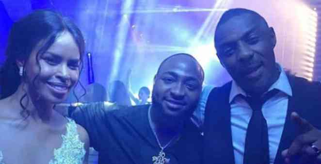 Davido spotted at Idris Elba's wedding in Morocco