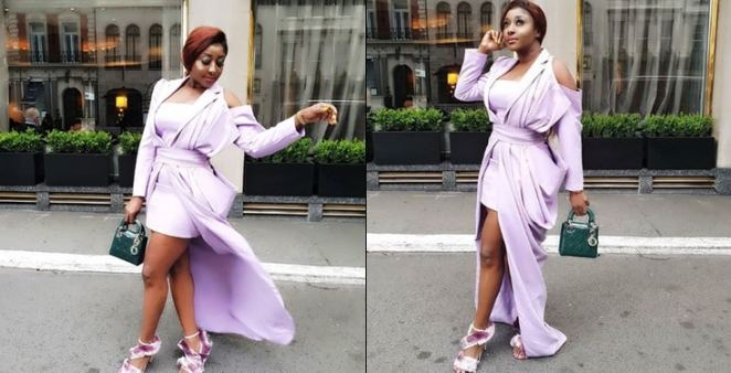 Ini Edo and a fan clash over her choice of shoes