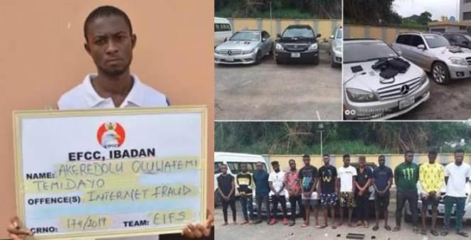 EFCC Arrests 13 Internet Fraudsters In Edo