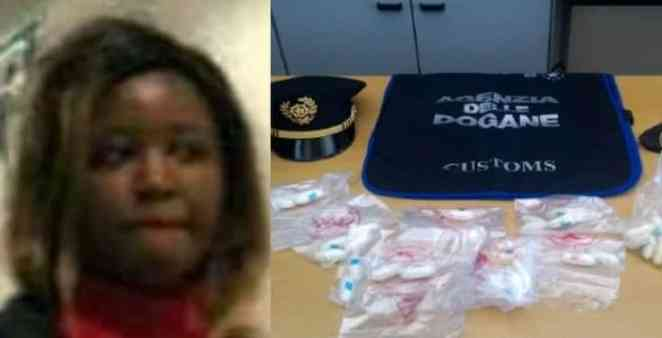 Nigerian lady attempts to kill a police officer after being caught with cocaine