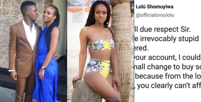 BBNaija's Lolu slams a man for body shaming AntoLecky