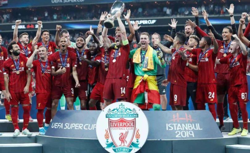 Liverpool won the Uefa Super Cup