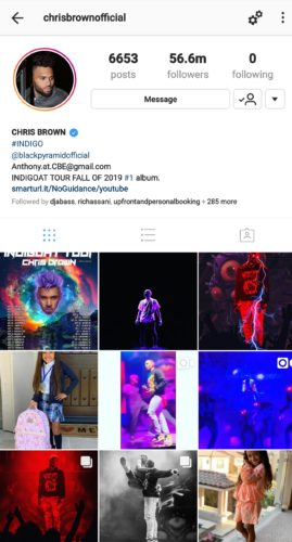 Nigerians react as Chris Brown unfollows Davido on Instagram