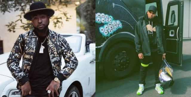 Nigerians react as Chris Brown unfollows Davido on Instagram