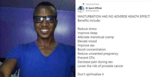 Nigerian doctor lists out the benefits of masturbation