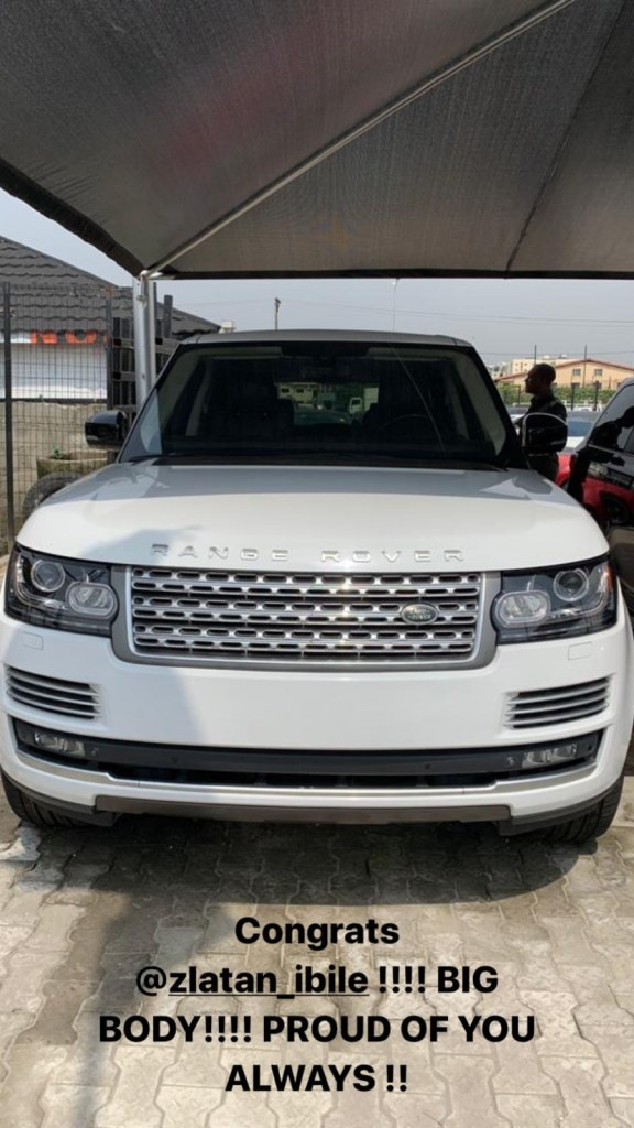 Zlatan Ibile buys himself a Range Rover for his 25th birthday 2