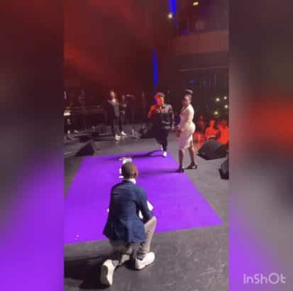 Man proposes to girlfriend at Teni billionaire concert in London Video lailasnews 413x410 1