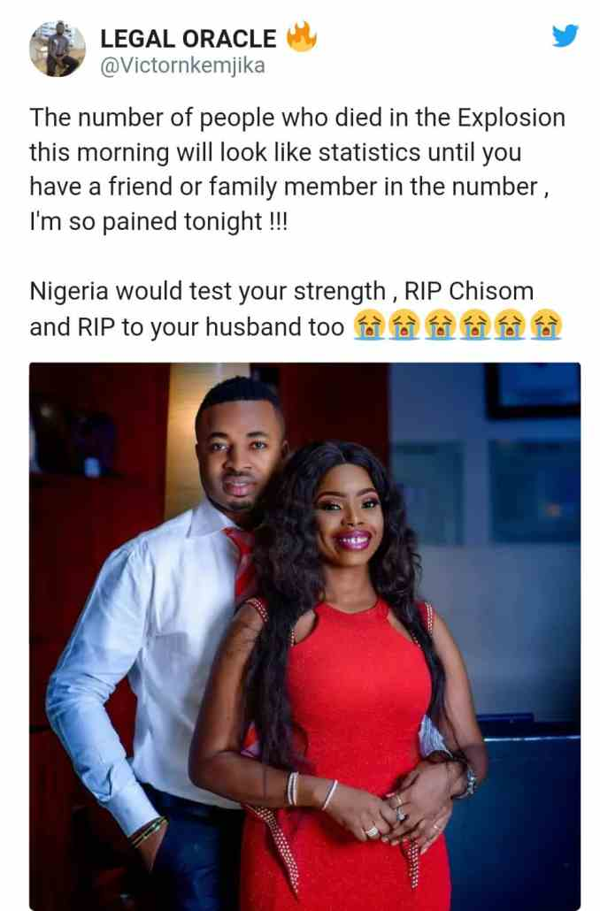 See Pictures Of Beautiful Couple Who Lost Their Lives In Abule Ado Explosion