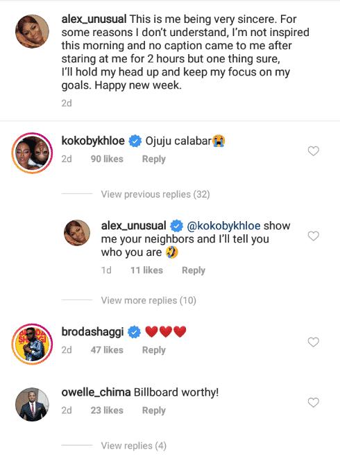 "Khloe trolls Alex Unusual on social media, calls her ""Ojuju Calabar"""