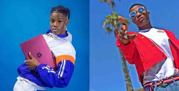 Rema says Wizkid is a legend as he opens up on his love life