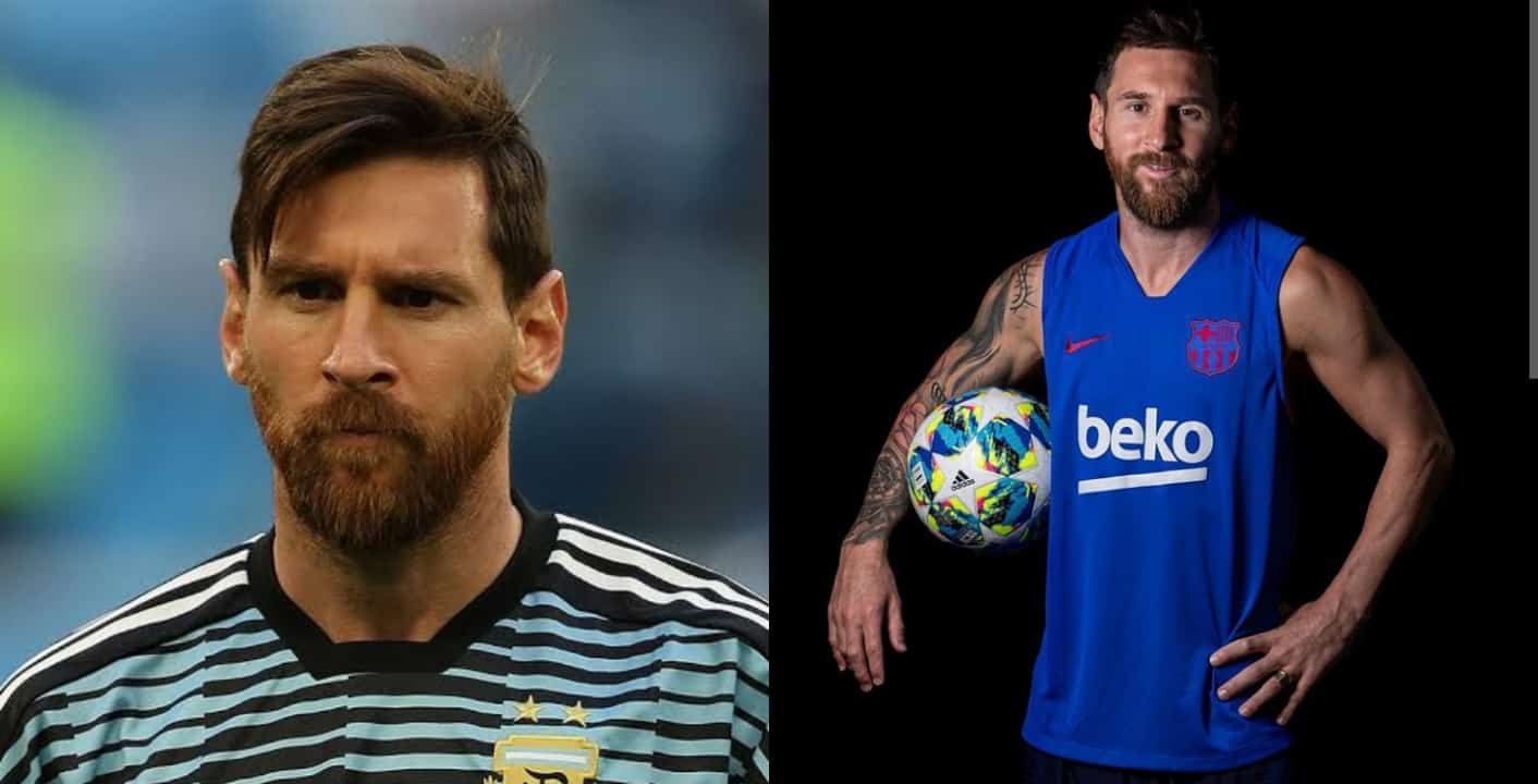 Lionel Messi transformed after shaving his beards