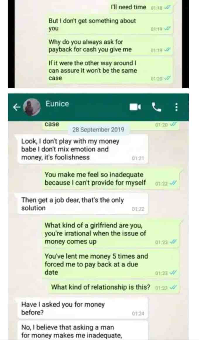 Lady blasts boyfriend for giving out her money to his family members 2