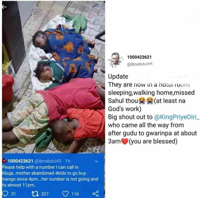 So Pathetic! Mother abandons her four children to buy mango without returning